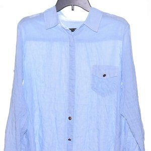 Rag & Bone Size 4 White Blue  Micro Checks Blouse